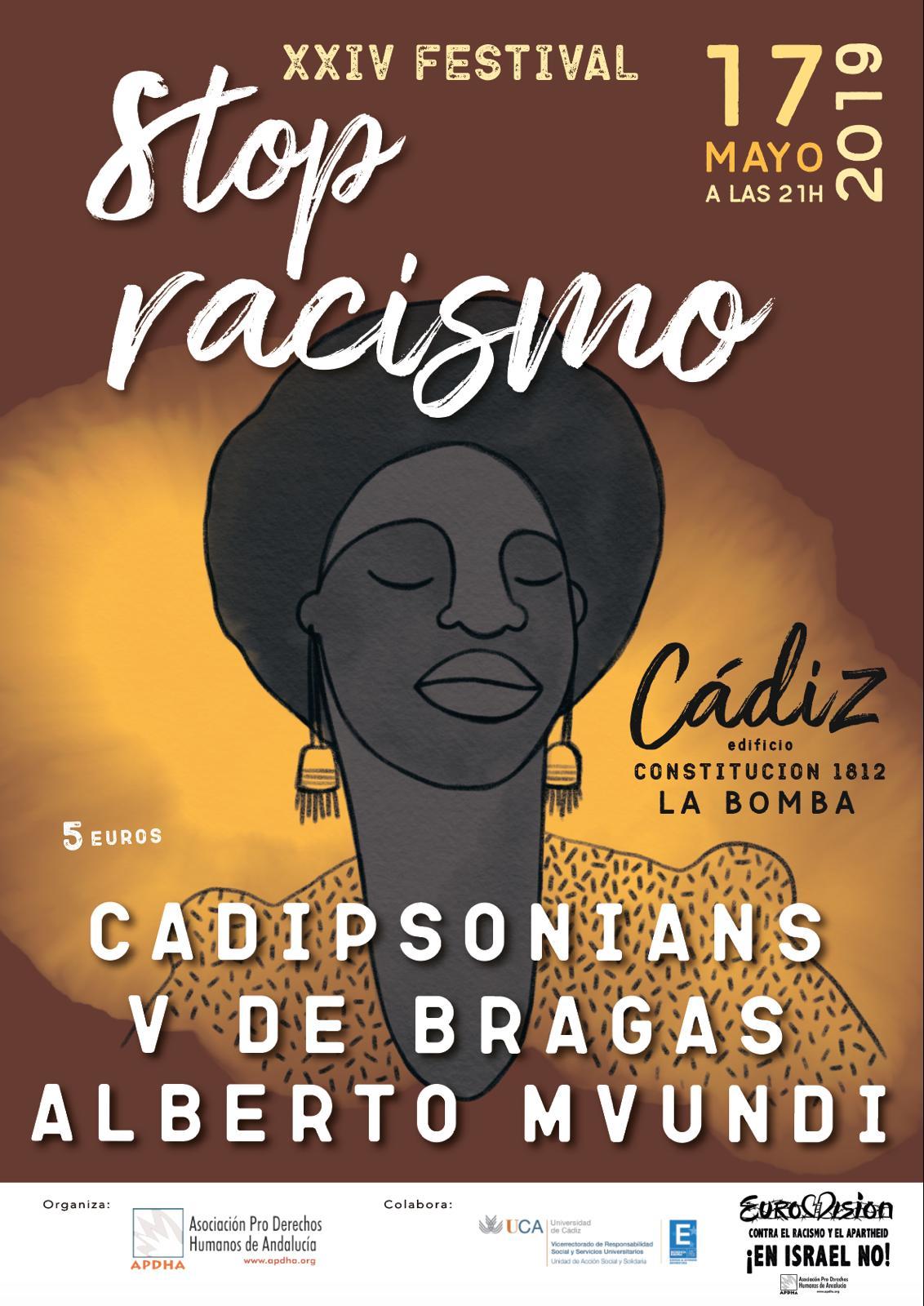 Imagen del cartel del Festival Stop Racismo