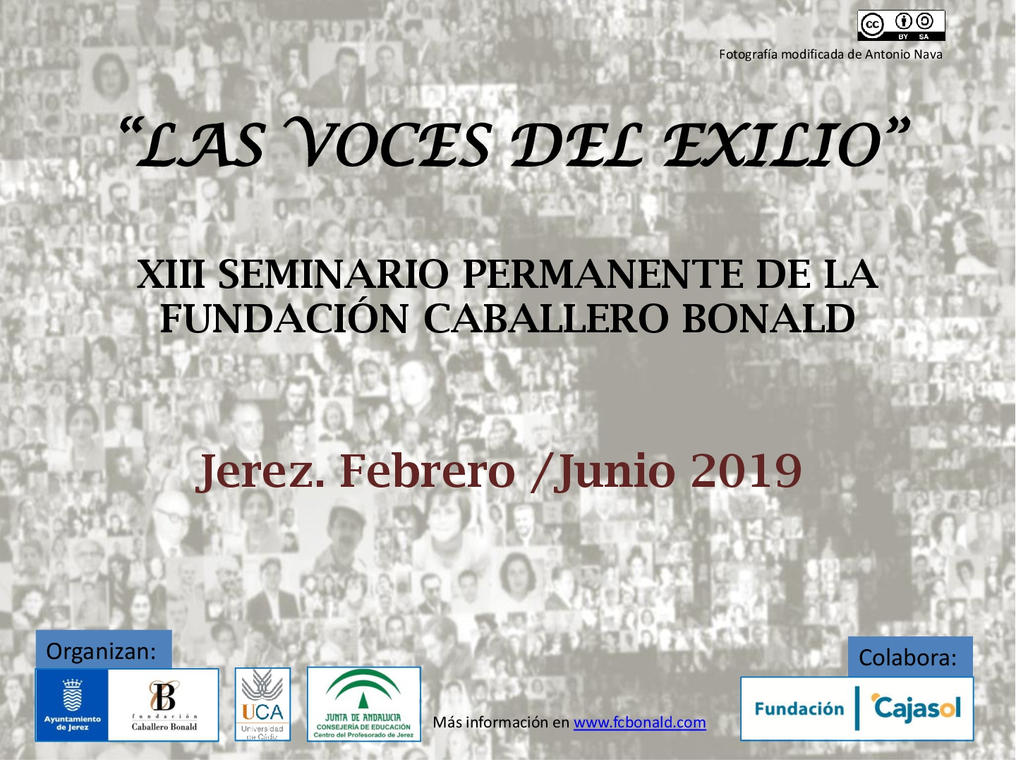 Cartel conferencia 'Antonio Machado'