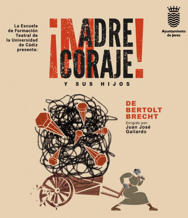 Imagen de la representación teatral 'Madre coraje y sus hijos'
